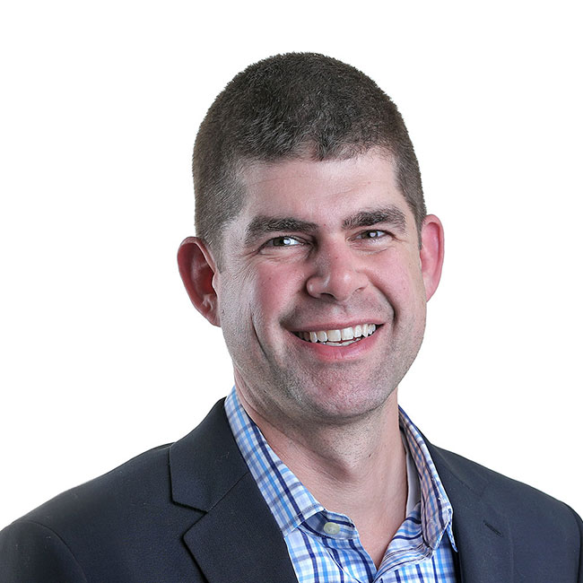 A headshot photo of Foodmix's Vice President and head of communications, Peter Baughman.